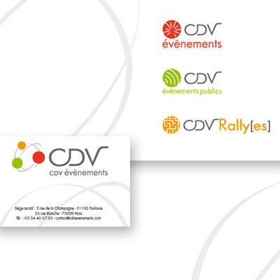 Création de logo et d'identité visuelle pour CDV