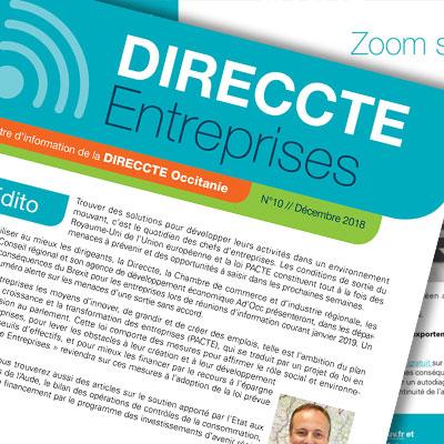 Création, réalisation et envoi de la newsletter de la DIRECCTE