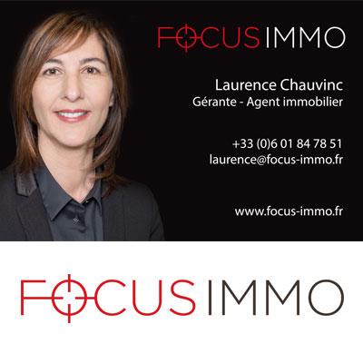 Création de logo et d'identité visuelle pour Focus Immo