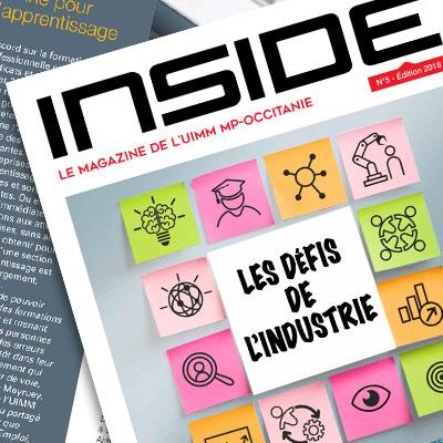 Création charte graphique et réalisation d'Inside, le journal de l'UIMM