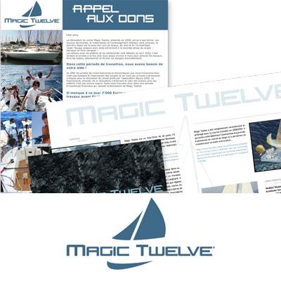 Création de logo et communication pour l'association MagicTwelve